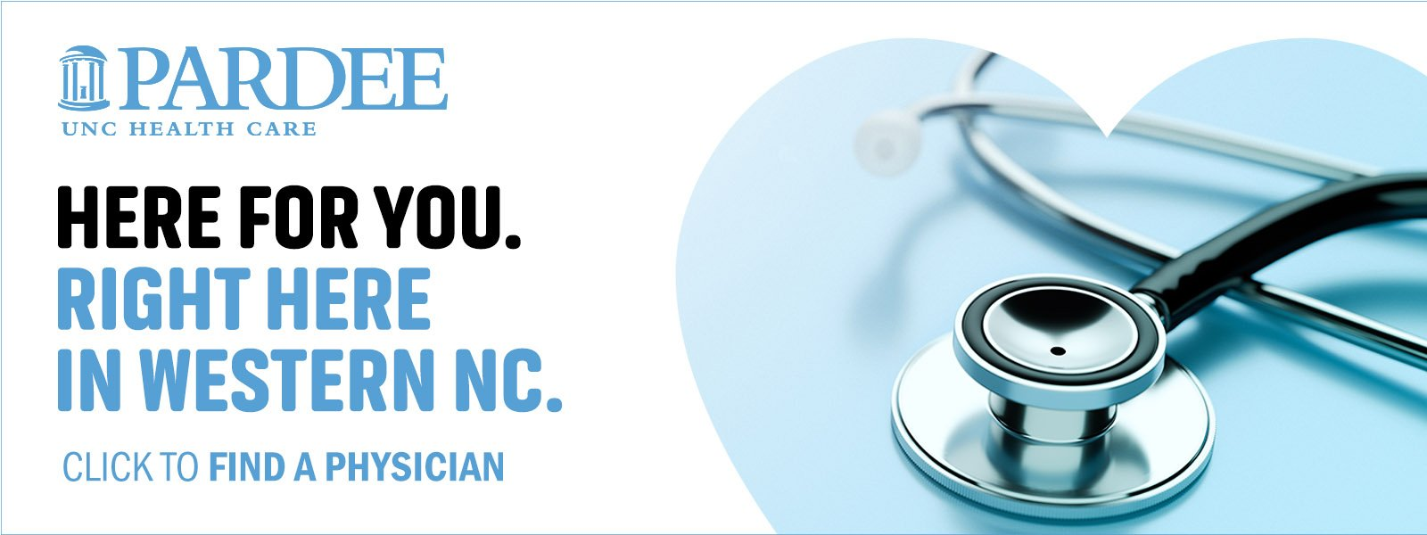 Here For You. Right Here in Western NC.