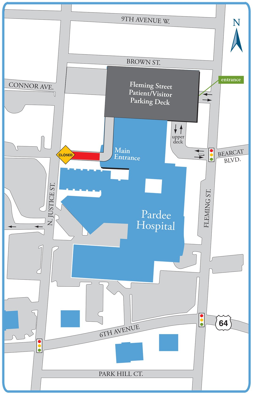 Justice Street Entrance Closing