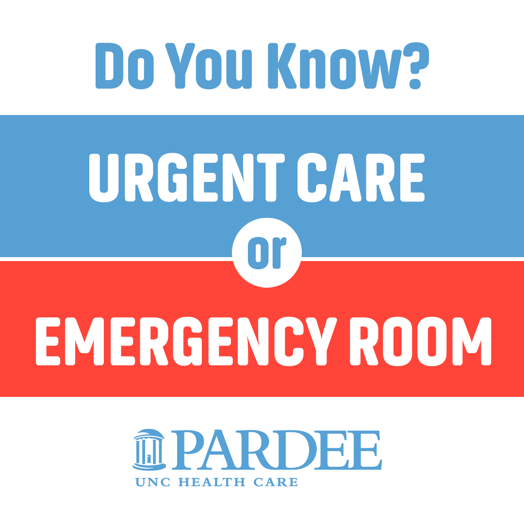 Urgent Care or Emergency Room?